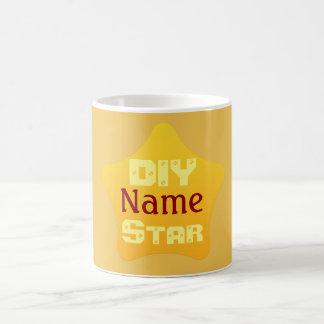 Shiny Yellow DIY Competition Star Basic White Mug