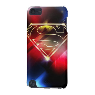 Shiny Yellow Outline Superman Logo iPod Touch 5G Cases
