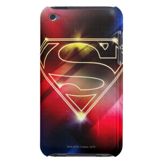 Shiny Yellow Outline Superman Logo iPod Case-Mate Cases