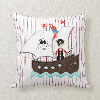 Ship Ahoy Matey Kids Pirate Theme Throw Pillow