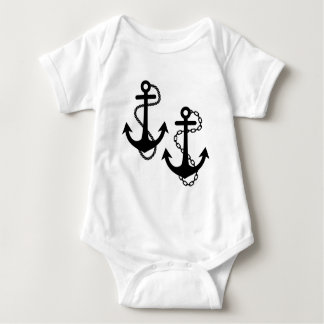Ship Anchor Baby Bodysuit