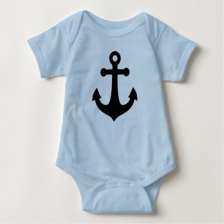 Ship Anchor Baby Bodysuit