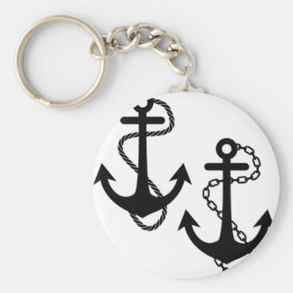 Ship Anchor Key Ring