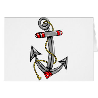 Ship Anchor Tattoo Greeting Card