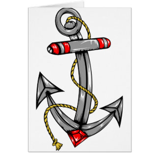 Ship Anchor Tattoo Greeting Cards