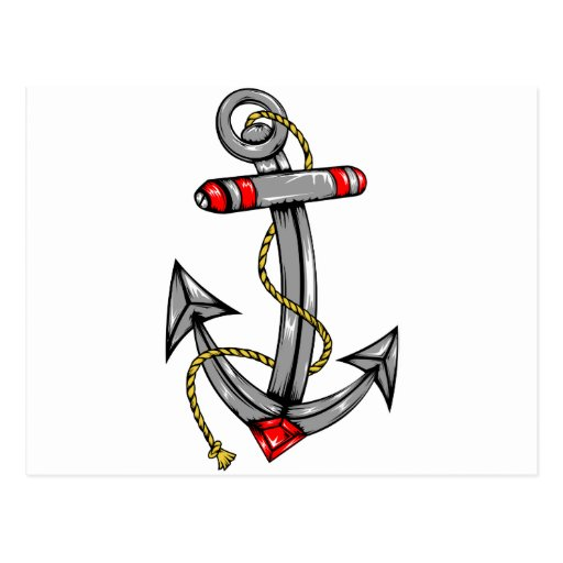 Ship Anchor Tattoo Postcards