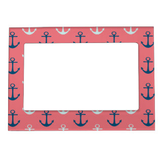 Ship Anchors on Rose Magnetic Picture Frame