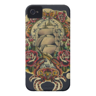 ship and crabs Case-Mate iPhone 4 cases