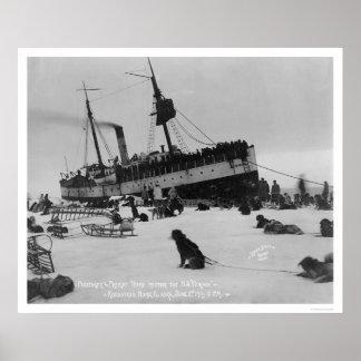 Ship Arrival Nome, Alaska 1914 Posters