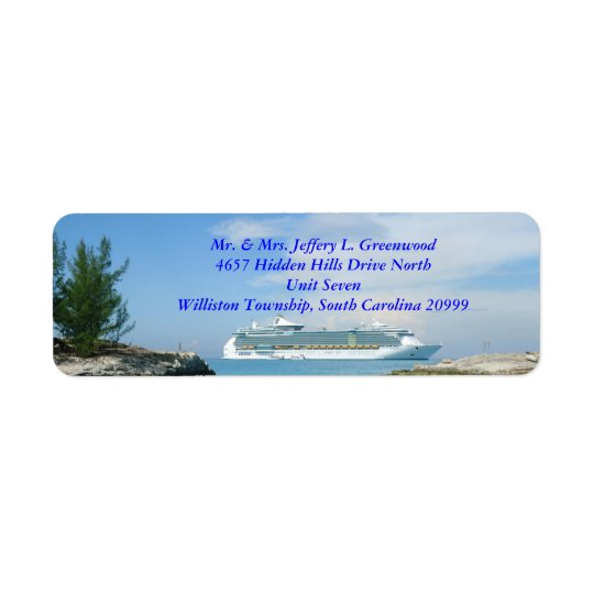 Ship at CocoCay Return Address Labels
