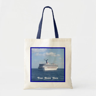 Ship at Sea Customize with Name Budget Tote Bag