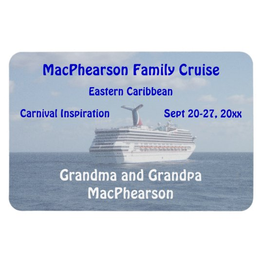 Ship at Sea Personalised Stateroom Door Marker Rectangular Photo Magnet