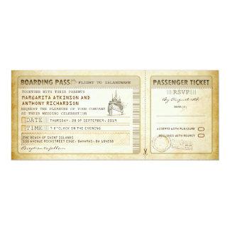 ship boarding pass wedding tickets-invites & rsvp 10 cm x 24 cm invitation card