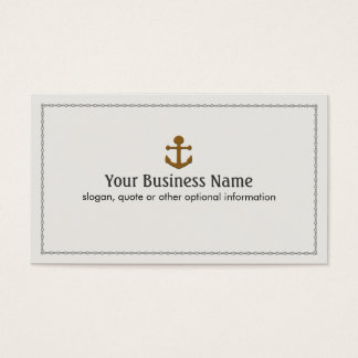 Ship Boat Anchor Nautical Business Card