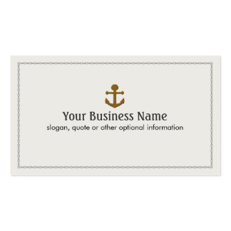 Ship Boat Anchor Nautical Pack Of Standard Business Cards