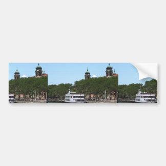 Ship Boat Sail New York Statue of Liberty Islands Bumper Sticker