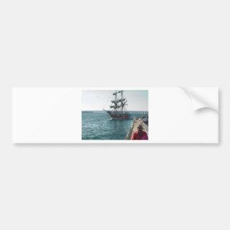 Ship Boat Sailing Water Pier Bumper Sticker