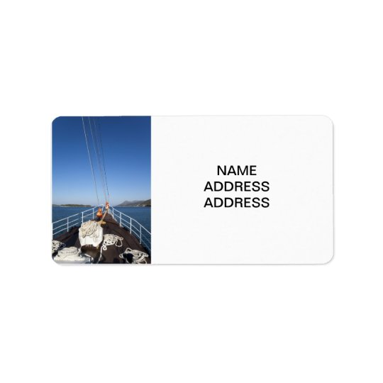 Ship Bow Address Label