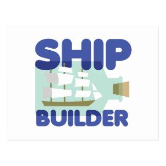 Ship Builder Postcard