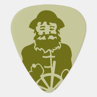 Ship Captain Green Guitar Pick