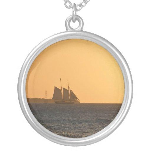 Ship Fading into Sunset Pendants