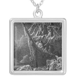 Ship in Antartica Silver Plated Necklace