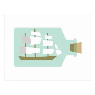 Ship In Bottle Postcard