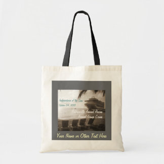 Ship in Sepia Customizable Budget Tote Bag