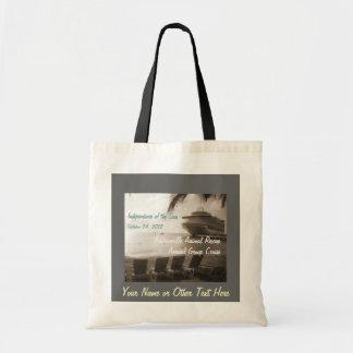 Ship in Sepia Customizable Tote Bag