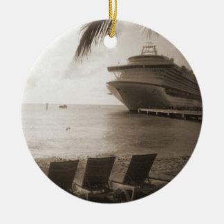 Ship in Sepia Ornament