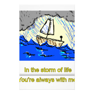 Ship in storm personalised stationery