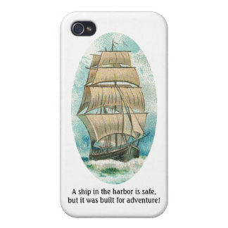 Ship in the Harbor is Safe but Built for Adventure Case For iPhone 4