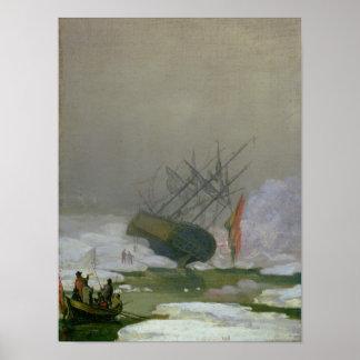 Ship in the Polar Sea, 12th December 1798 Poster