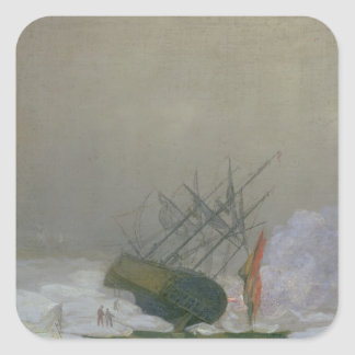 Ship in the Polar Sea, 12th December 1798 Square Sticker
