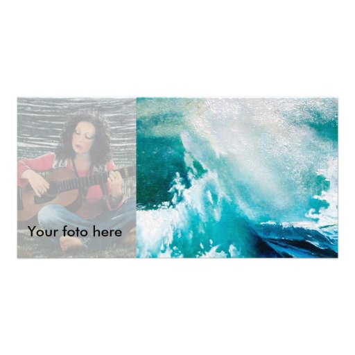 Ship In the Sea in Storm- Waves Detail Picture Card