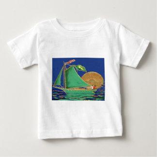 Ship Irish Flag American Flag Sun Boat Tee Shirt
