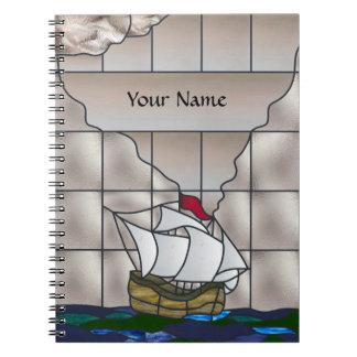 Ship Journal Spiral Note Books