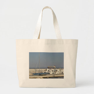 Ship Leaving Varna Large Tote Bag
