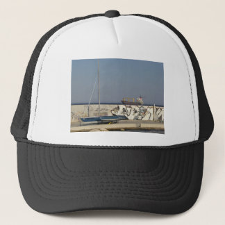 Ship Leaving Varna Trucker Hat