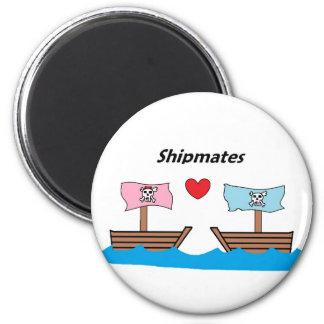 ship mates 6 cm round magnet
