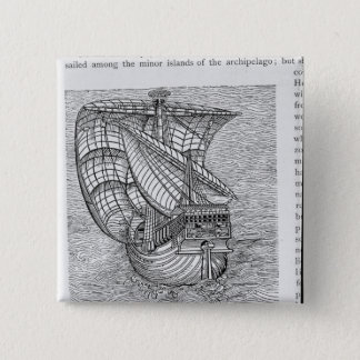 Ship of Columbus' Time' 15 Cm Square Badge