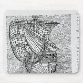 Ship of Columbus' Time' Mouse Mat