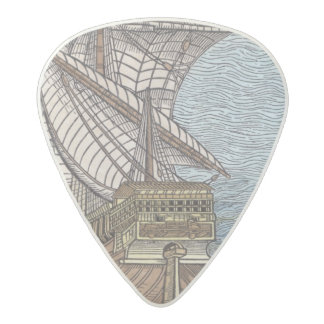 Ship of Columbus'Time' Acetal Guitar Pick