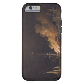 Ship on Fire at Night, c.1756 (oil on canvas) Tough iPhone 6 Case