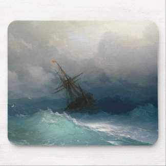 Ship on Stormy Seas Ivan Aivazovsky seascape storm Mouse Pad