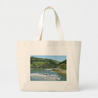 Ship on the Rhine with Oberwesel Large Tote Bag