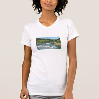 Ship on the Rhine with Oberwesel T-Shirt