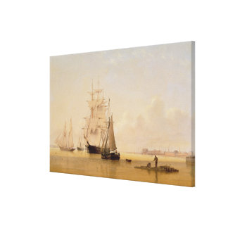 Ship Painting (oil on canvas) 2 Canvas Print