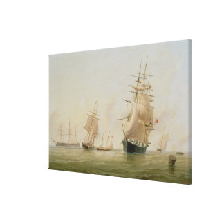 Ship Painting (oil on canvas) Canvas Print