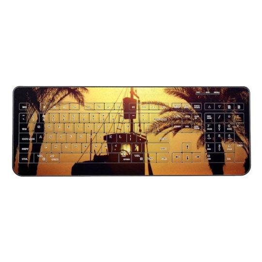Ship Palm Trees Custom Wireless Keyboard Summer